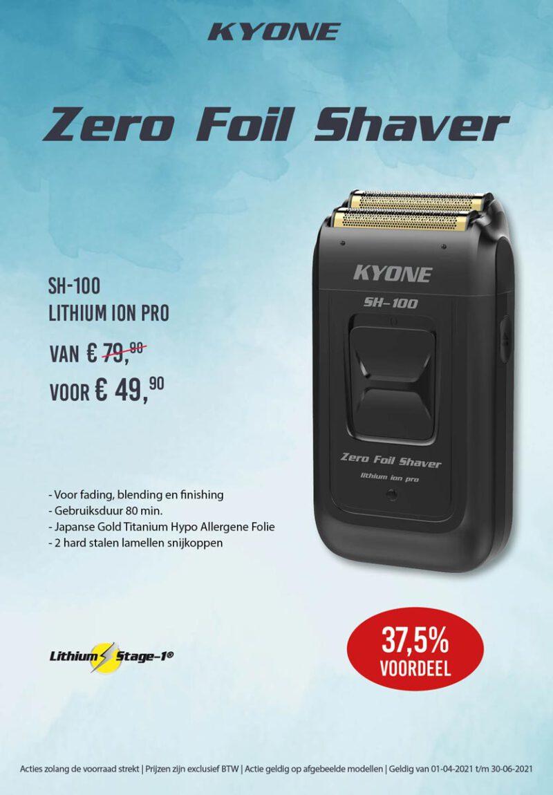 Kwartaal aanbieding Zero Foil Shaver